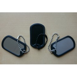 Military ID tag with silencer