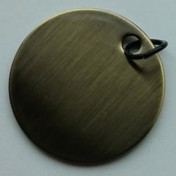 Alloy circle tag