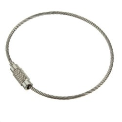 Outdoor Hiking Stainless Steel Wire Keychain Cable for luggage